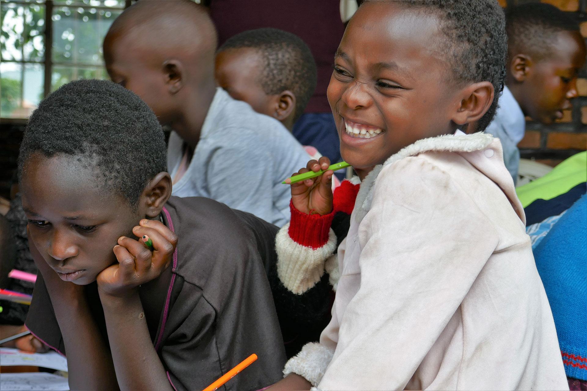 Tabără copii în Rwanda