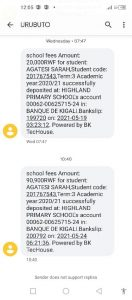 SMS for payment confirmation